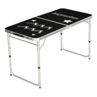 Aquarius symbol beer pong table