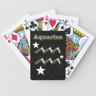 Aquarius symbol bicycle playing cards