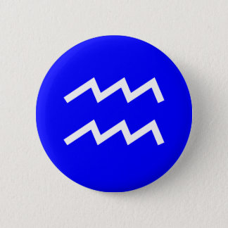 Aquarius Symbol - Customised 6 Cm Round Badge