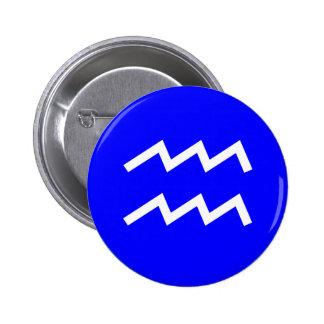Aquarius Symbol - Customized 6 Cm Round Badge
