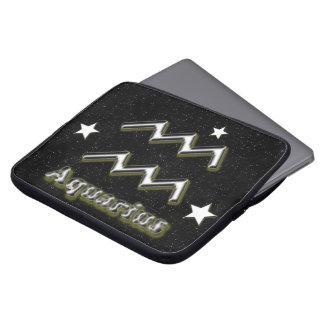 Aquarius symbol laptop sleeve