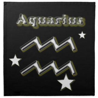 Aquarius symbol napkin