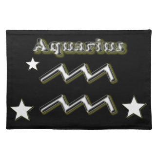 Aquarius symbol place mat