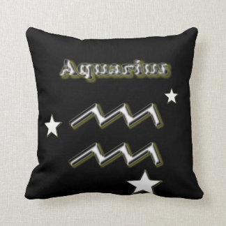Aquarius symbol throw pillow