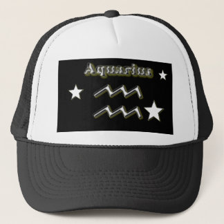 Aquarius symbol trucker hat
