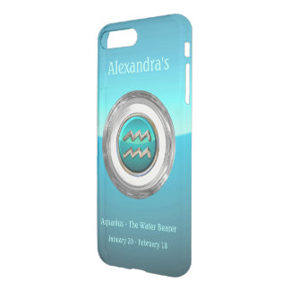 Aquarius - The Water Bearer Astrological Symbol iPhone 8 Plus/7 Plus Case