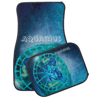 Aquarius the Water Bearer Car Mat