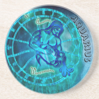 Aquarius the Water Bearer Horoscope Coaster
