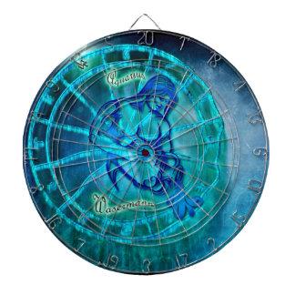 Aquarius the Water Bearer Horoscope Dartboard