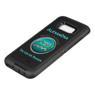Aquarius - The Water Bearer Horoscope Sign OtterBox Defender Samsung Galaxy S8+ Case