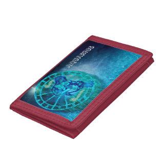 Aquarius the Water Bearer Tri-fold Wallet