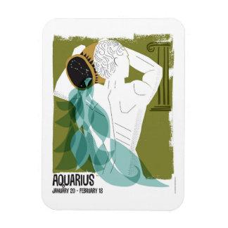 Aquarius the Water Bearer Zodiac Magnet
