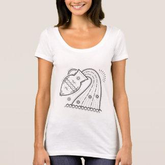 """""""Aquarius the Water Bearer"""" Zodiac Scoop Neck T-Shirt"""
