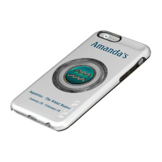 Aquarius - The Water Bearer Zodiac Sign Incipio Feather® Shine iPhone 6 Case