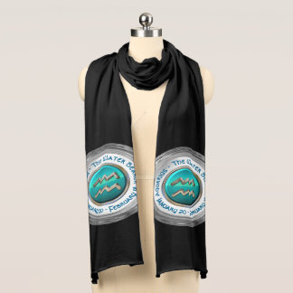 Aquarius - The Water Bearer Zodiac Sign Scarf