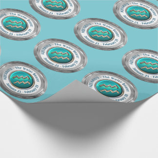Aquarius - The Water Bearer Zodiac Sign Wrapping Paper