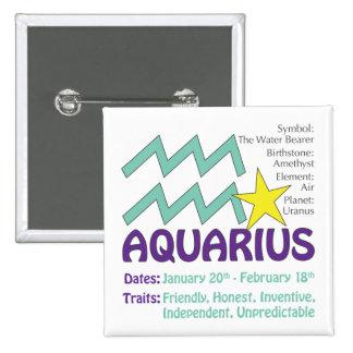 Aquarius Traits Button