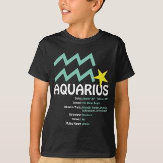 Aquarius Traits Kids Dark T-Shirt