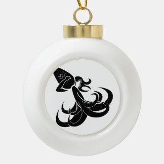 aquarius water bearer astrology horoscope zodiac ceramic ball decoration