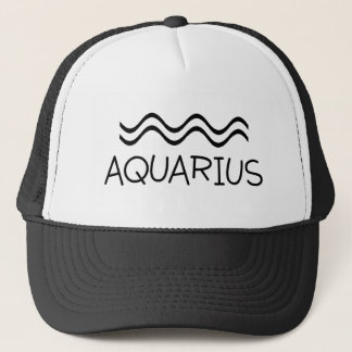 Aquarius with Symbol Trucker Hat
