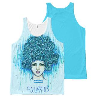 Aquarius Woman All-Over Print Singlet