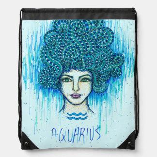 Aquarius Woman Drawstring Bag
