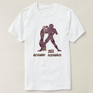 Aquarius Zodiac Amethyst Stars Modern T-Shirt
