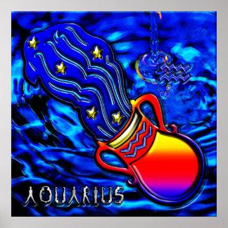 Aquarius Zodiac Art Poster