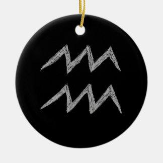 Aquarius. Zodiac Astrology Sign. Christmas Tree Ornaments