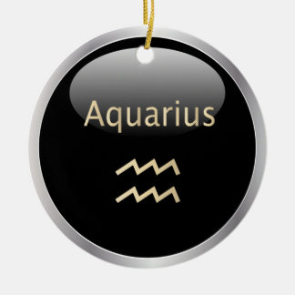 Aquarius zodiac astrology star sign ornament