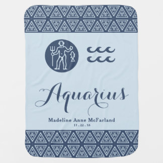 Aquarius Zodiac Baby Blanket