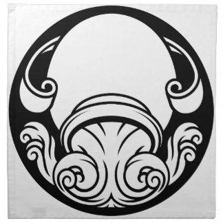 Aquarius Zodiac Horoscope Astrology Sign Napkin