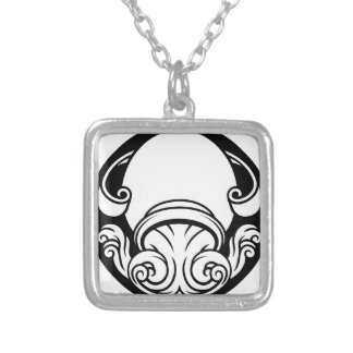 Aquarius Zodiac Horoscope Astrology Sign Silver Plated Necklace