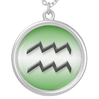 Aquarius Zodiac Light Gradient Green ~ Necklace