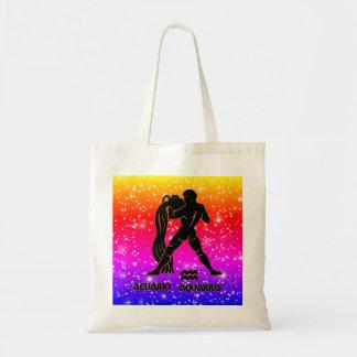 Aquarius Zodiac Modern Tote Bags