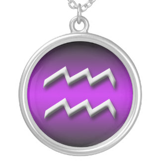Aquarius Zodiac Purple Gradient ~ Necklace