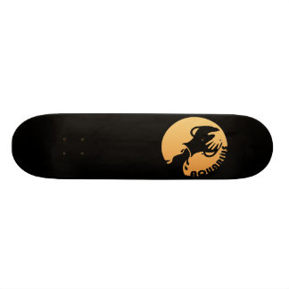 Aquarius Zodiac Sign 18.1 Cm Old School Skateboard Deck