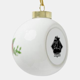 Aquarius Zodiac Sign Astrology Black and White Ceramic Ball Decoration