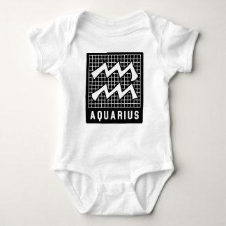 Aquarius Zodiac Sign Baby Bodysuit