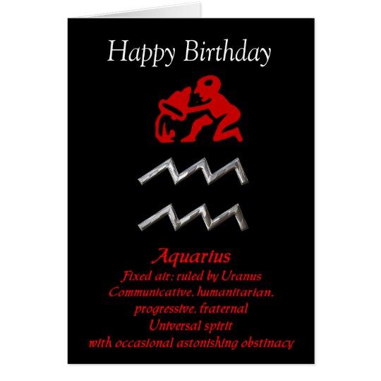 Aquarius Zodiac Sign Birthday Greeting Cards