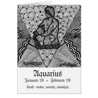 Aquarius   (Zodiac sign) Card