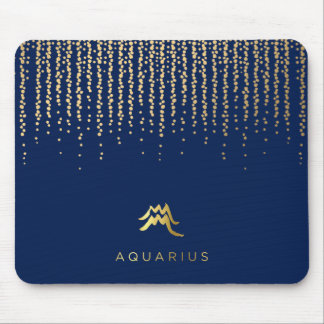 Aquarius Zodiac Sign Computer Mousepad