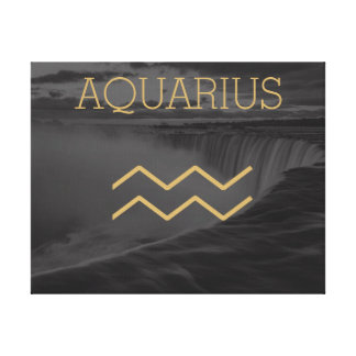 Aquarius Zodiac Sign | Custom Background + Text
