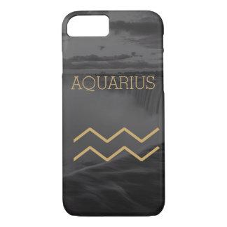 Aquarius Zodiac Sign | Custom Background + Text iPhone 8/7 Case