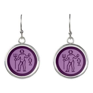 Aquarius Zodiac Sign Earrings