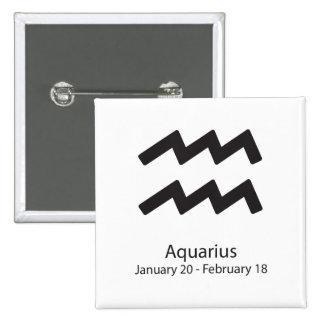 Aquarius Zodiac Sign January 20 - February 18 15 Cm Square Badge