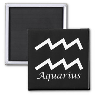 'Aquarius' Zodiac Sign Square Magnet