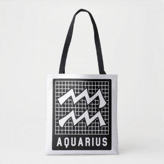Aquarius Zodiac Sign Tote Bag