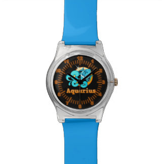Aquarius zodiac sign wristwatches
