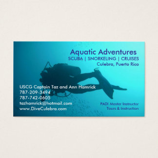 Aquatic Adventures Business Card